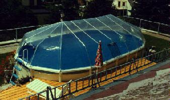 15 X 24 Oval Above Ground Pool Sun Dome Sd161524