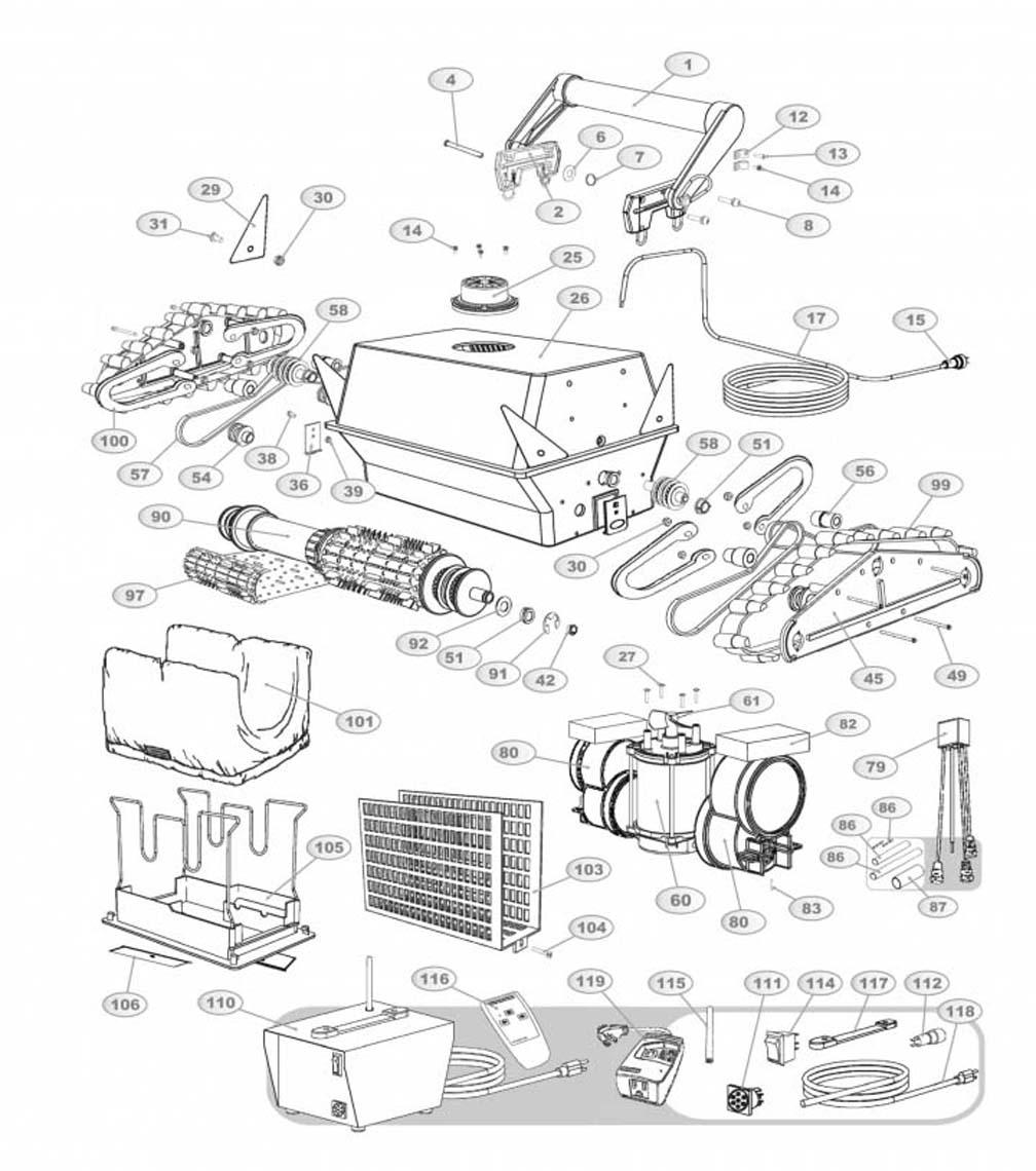 Aquabot Plus R C Replacement Parts