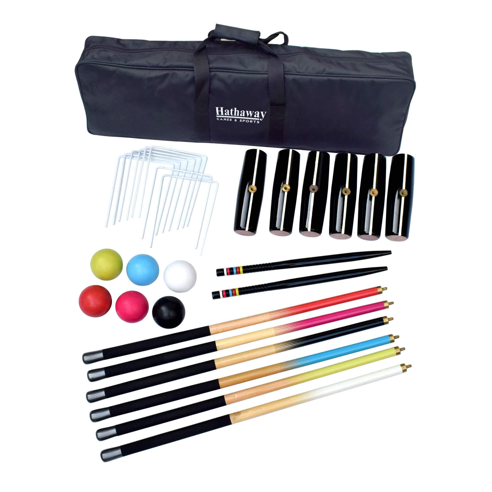 Deluxe 6-Player Croquet Set