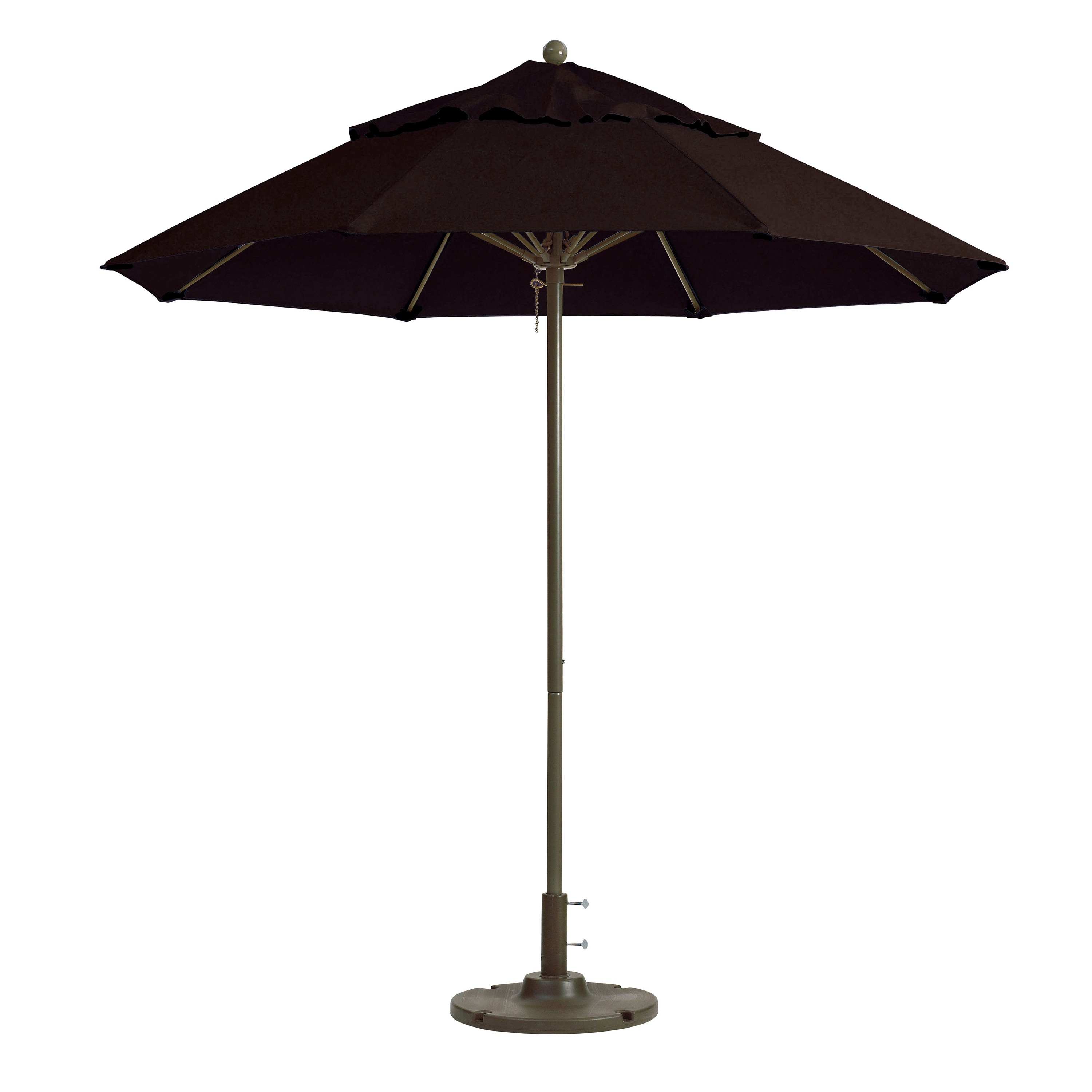 7.5ft Windmaster Fiberglass Umbrella, Black