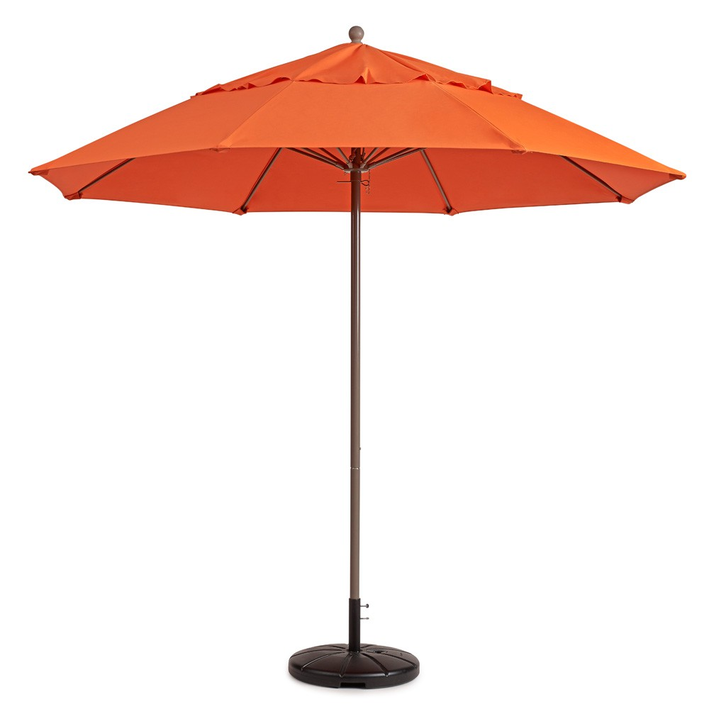 7.5ft Windmaster Fiberglass Umbrella, Orange