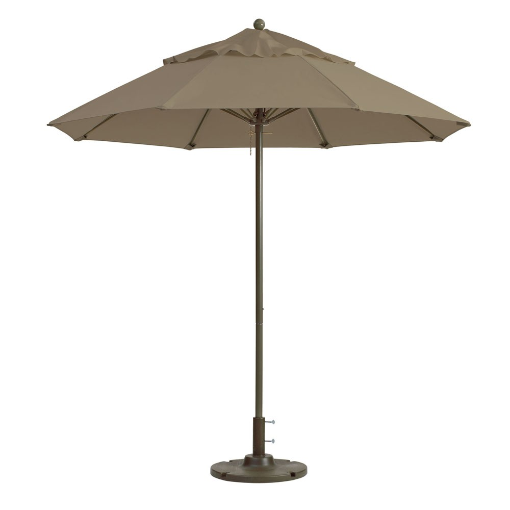 7.5ft Windmaster Fiberglass Umbrella, Taupe