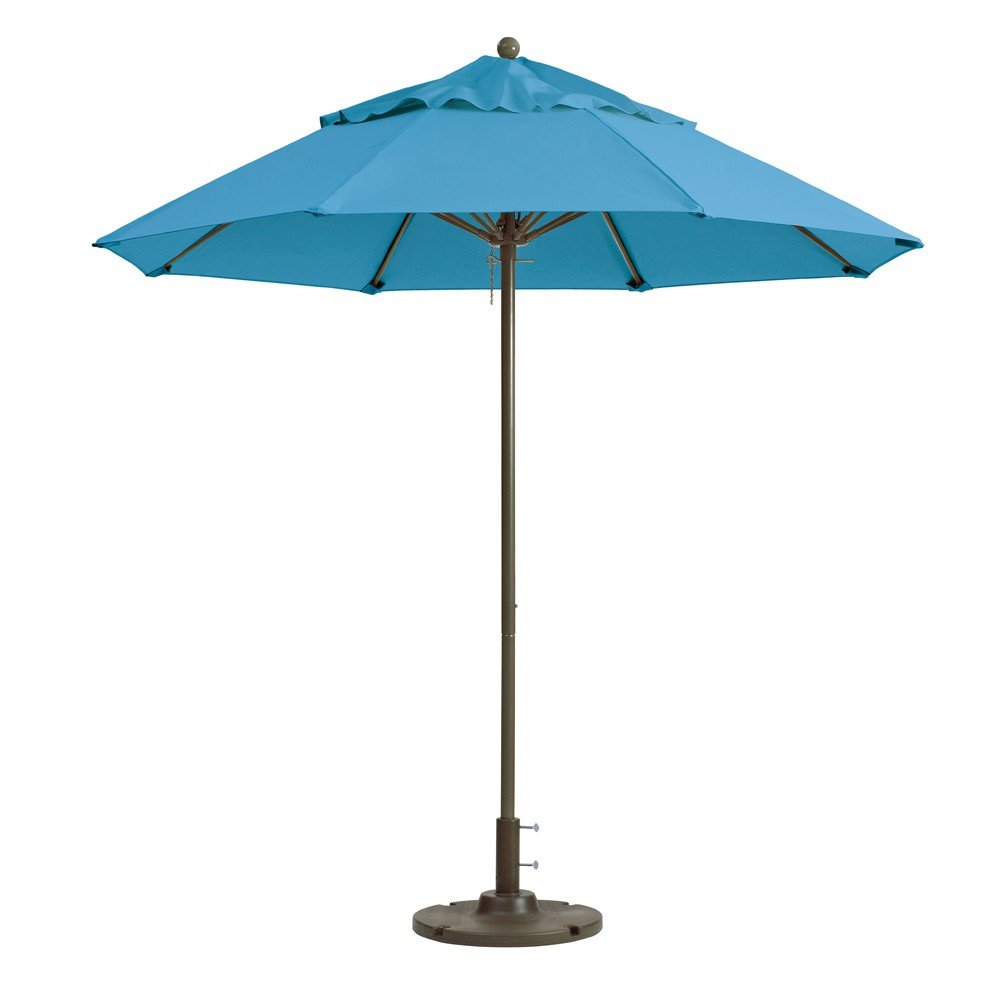 7.5ft Windmaster Fiberglass Umbrella, Sky Blue
