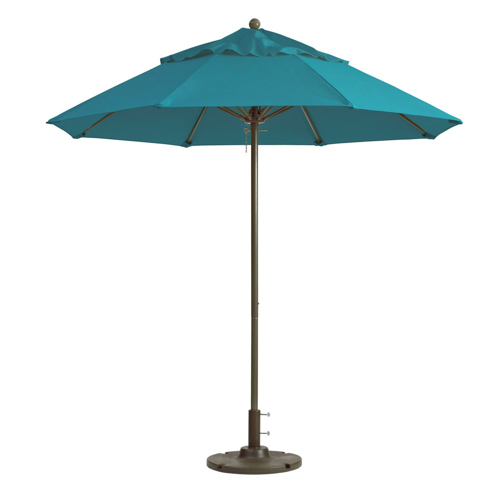 7.5ft Windmaster Fiberglass Umbrella, Turquoise