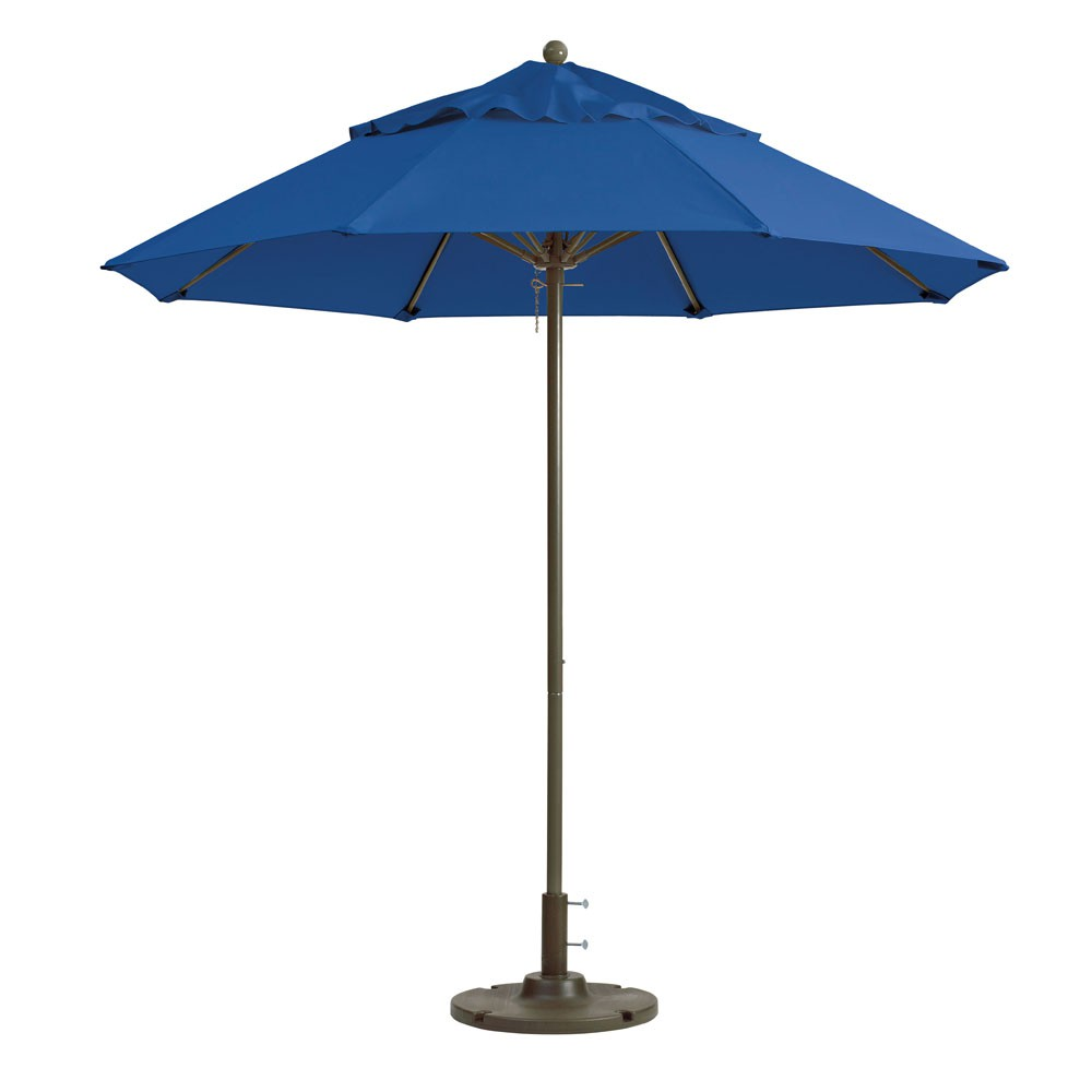9ft Windmaster Fiberglass Umbrella, Pacific Blue