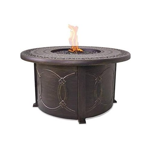 LP Gas Outdoor Fire Table with Cast Aluminum Mantle
