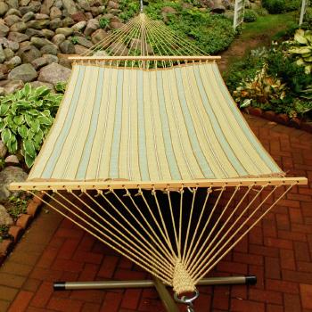 Algoma Reversible Hammock - Crestwood Spa Stripe/Marlin Linen Tan