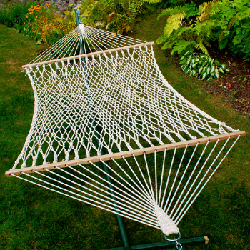 Algoma 13' Cotton Rope Hammock w/ Hanging Hardware and Pillow