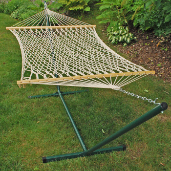 Algoma Cotton Rope Hammock and Stand Combination