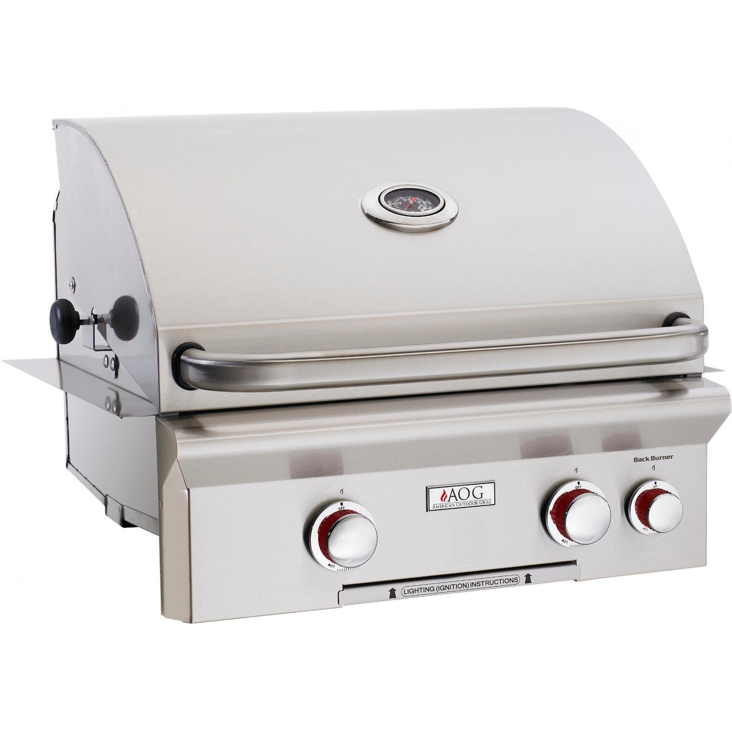 American Outdoor Grill 24 Inch Built-In Gas Grill - 42k BTU w/ Rotisserie