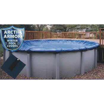 15' Round Arctic Armor Bronze Winter Pool Cover 8yr - 4' Overlap