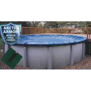 15' Round Arctic Armor Silver Winter Pool Cover 12yr - 4' Overlap