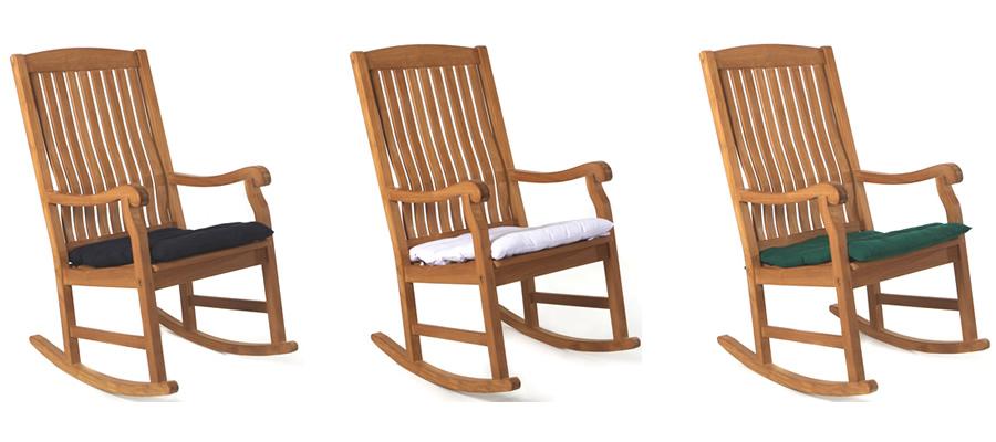 Blue Rocking Chair Cushion