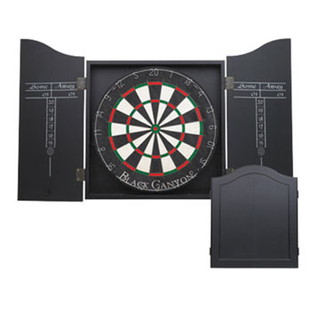 Black Canyon Black Dart Board Cabinet