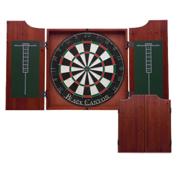 Black Canyon Chocolate Dart Board Cabinet