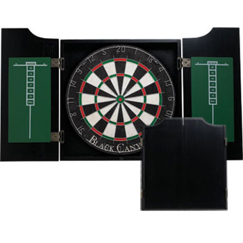 Black Canyon Midnight Black Dart Board Cabinet