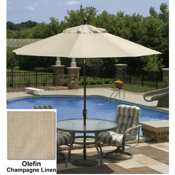 9' Octagon Autotilt Market Umbrella