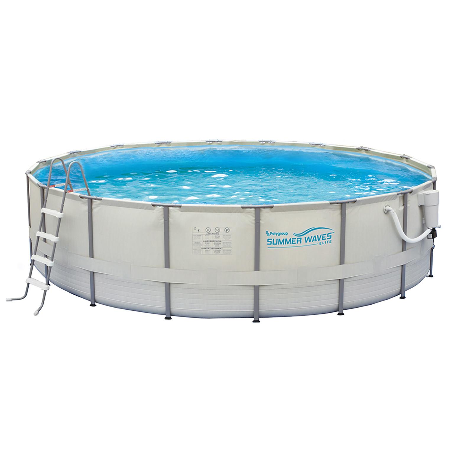 Summer waves 15 39 round 48 depth metal frame pool nb2030 for Pool rund 3 60