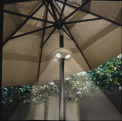 Rechargeable 4 Light Bronze Umbrella Light