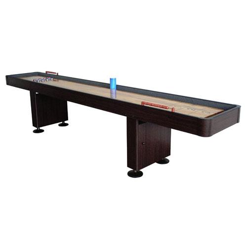 Carmelli 9 Ft. Shuffleboard Table - Walnut
