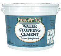 3lb Wet Plug -  Water Stopping Cement