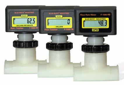 Blue-White Digi-Flo Electronic Flowmeter - 1 1/2