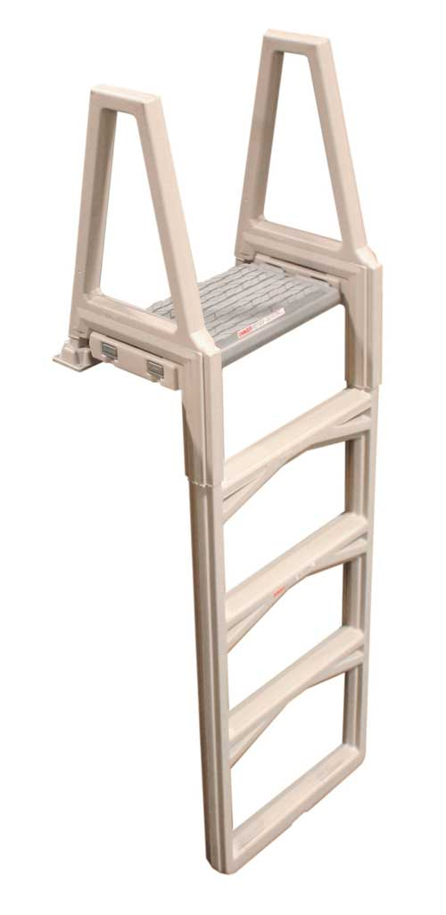 Deluxe Straight Up & Down Inpool Ladder - White. 48