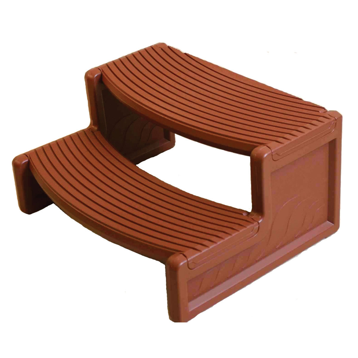 Confer Handi-Step Spa Step - Fits Straight Or Round Spa - Redwood