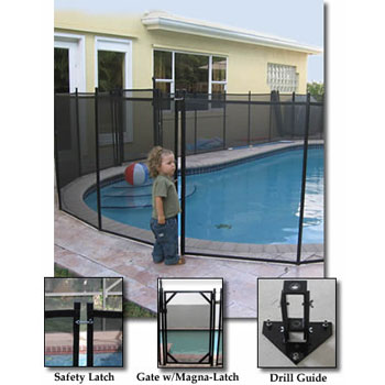 Removeable Safety Fence For In-Ground Pools (4' x 10' section)