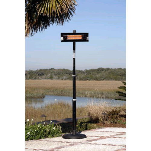 Fire Sense Black Steel Telescoping Offset Pole Mounted Infrared Heater