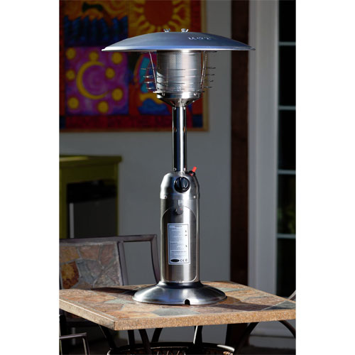 Fire Sense Stainless Steel Table Top Patio Heater