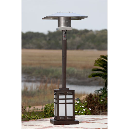 46,000 BTU Square Mocha Illuminated Patio Heater