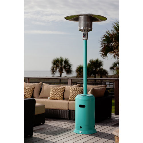 Aqua Blue Powder Coated 46,000 BTU Patio Heater