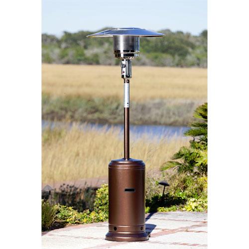 Fire Sense 44,000 BTU Hammered Bronze Standard Patio Heater