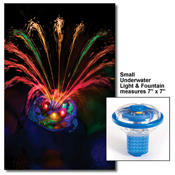 Small Underwater Light Show & Pool Fountain