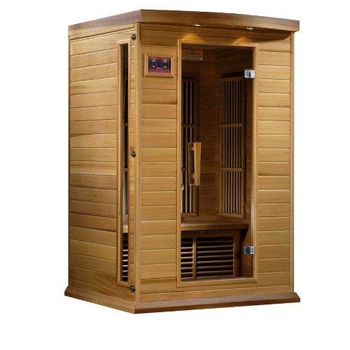 Maxxus Red Cedar LEMF Far Infrared Sauna 2 Person 6 Carbon