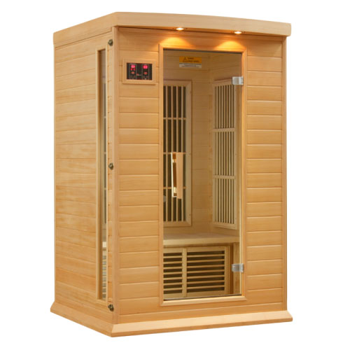 Maxxus Hemlock LEMF Far Infrared Sauna 2 Person 6 Carbon