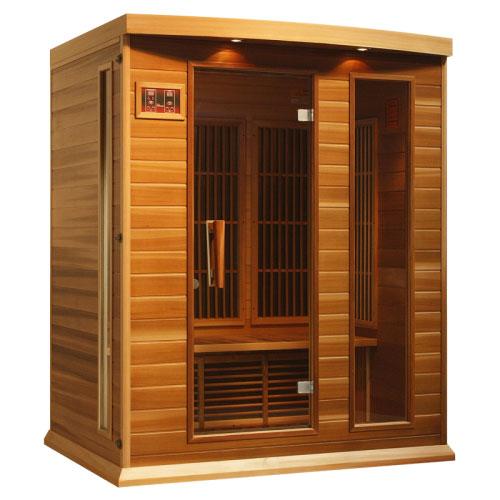Maxxus Red Cedar LEMF Far Infrared Sauna 3 Person 7 Carbon