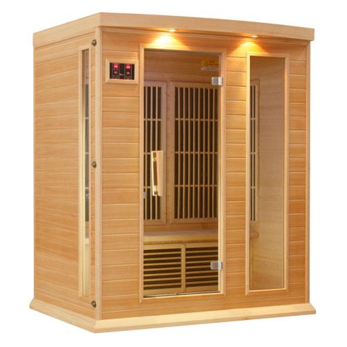 Maxxus Hemlock LEMF Far Infrared Sauna 3 Person 7 Carbon
