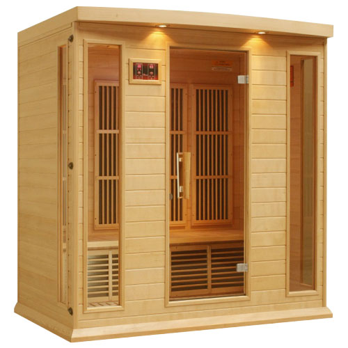 Maxxus Hemlock LEMF Far Infrared Sauna 3 Person 9 Carbon