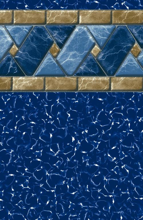 GLI 12 x 24 Rectangle Marble Tile 28/20 Mil Inground Pool Liner
