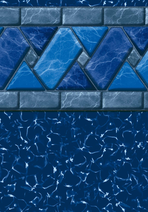 GLI 12 x 24 Rectangle Ocean Blue Inground Pool Liner