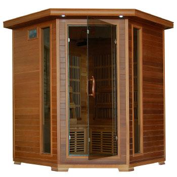 Whistler 4 Person Corner Cedar Heatwave Infrared Sauna