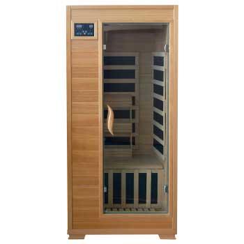 Buena Vista 1 Person HeatWave Infrared Sauna w/ Carbon Heaters
