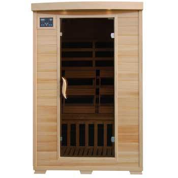 Coronado 2 Person HeatWave Infrared Sauna w/ Carbon Heaters