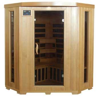 Santa Fe 3 Person Corner HeatWave Infrared Sauna w/ Carbon Heater