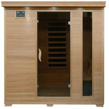 Monticello 4 Person HeatWave Infrared Sauna w/ Carbon Heaters