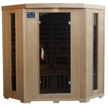Tucson - 4 Person Corner Carbon Infrared Heatwave Sauna