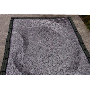 12' x 24' Rectangle Enviro Mesh In-Ground Winter Cover - 8yr