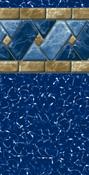Marble Tile 28/20 Mil Value Series Inground Liners